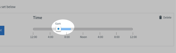 Click and drag the time slider to your desired time