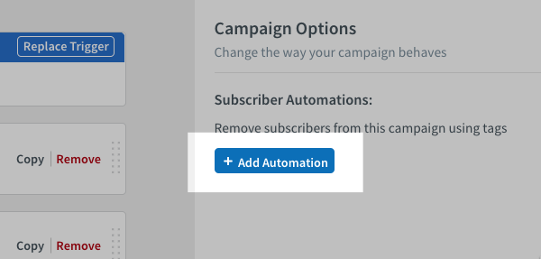 click blue Add Automation button on right