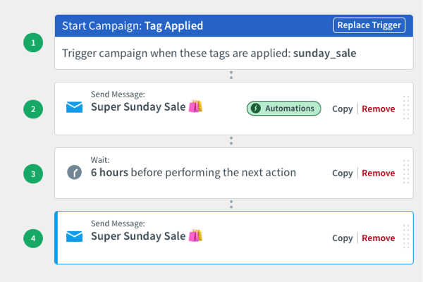 add additional actions to your Campaign