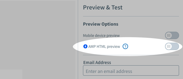 AMP HTML Preview toggle