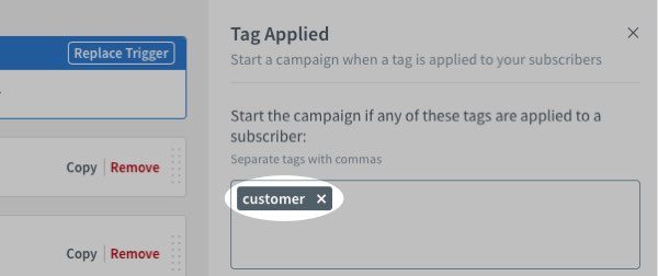 Specify tags