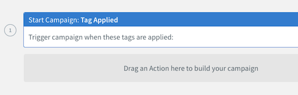 Tagg Applied trigger button