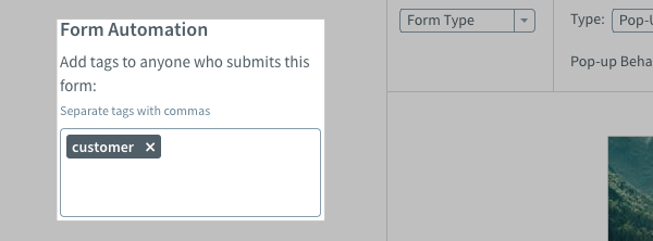 Add tags to Form Automation