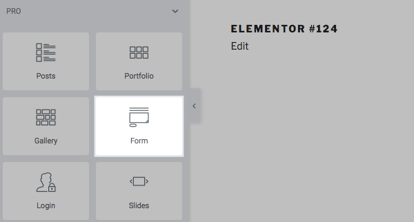 Drag Elementor Pro widget into your page