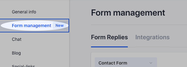 Form Management tab
