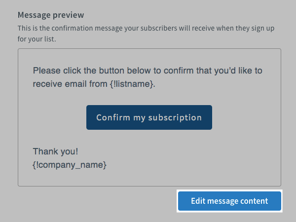 Edit message content button