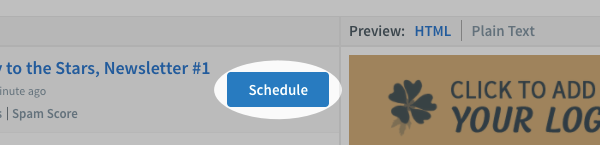 Click the Schedule button