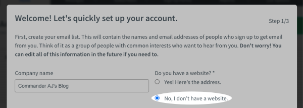No, I don't have a website