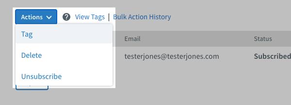 Click Actions and Tag