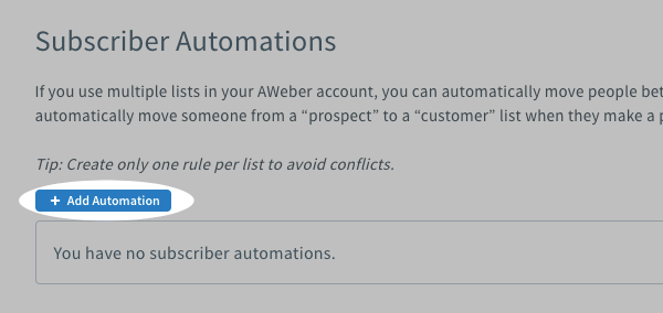 Click Add Automation