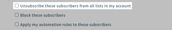 Unsubscribe from all lists