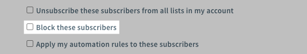 Block subscribers