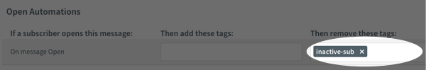 Add open automation tags