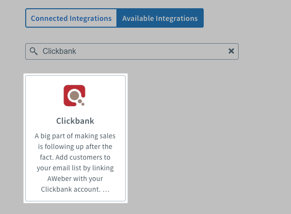 Search for Clickbank