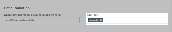 Add tags in the textbox