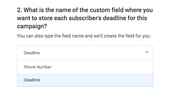 Choose a custom field