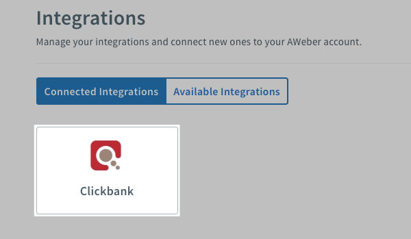 Select the integration