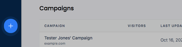 Add campaign button