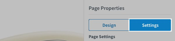 Page Properties: Settings