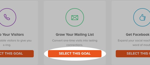 Select Grow Your Mailing List and