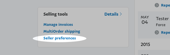 Select Seller preferences