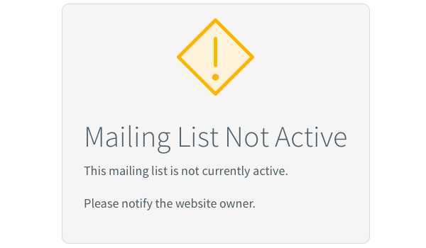 Mailing list not active error