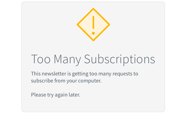 Too many subscriptions error