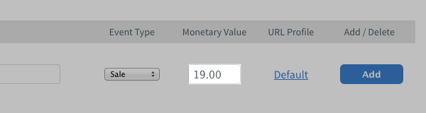 dollar amount entered under Monetary Value section