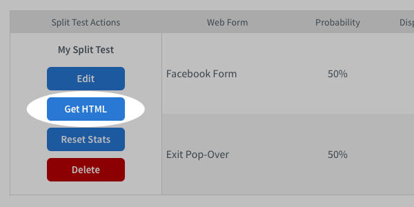 How do I split test my sign up forms? – AWeber Knowledge Base