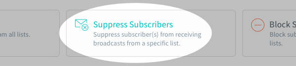 Suppress Subscribers button