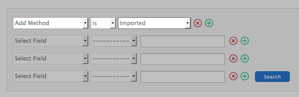 Select Field section populated with Add Method is Imported