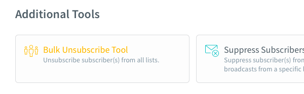 Bulk Unsubscribe Tool button