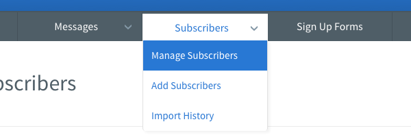 Click Manage subscribers