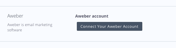 Click Connect Your AWEber Account