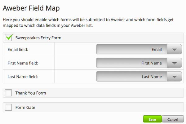 Click Map Form Fields