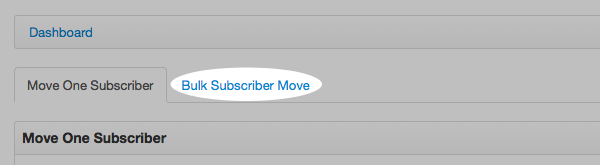 Click Bulk Subscriber Move