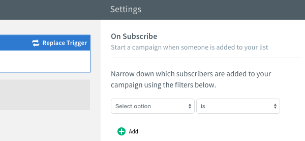 On subscribe filters
