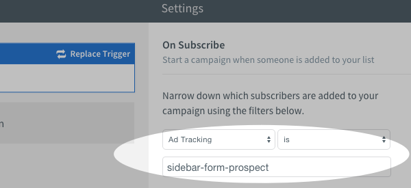 Ad Tracking filter