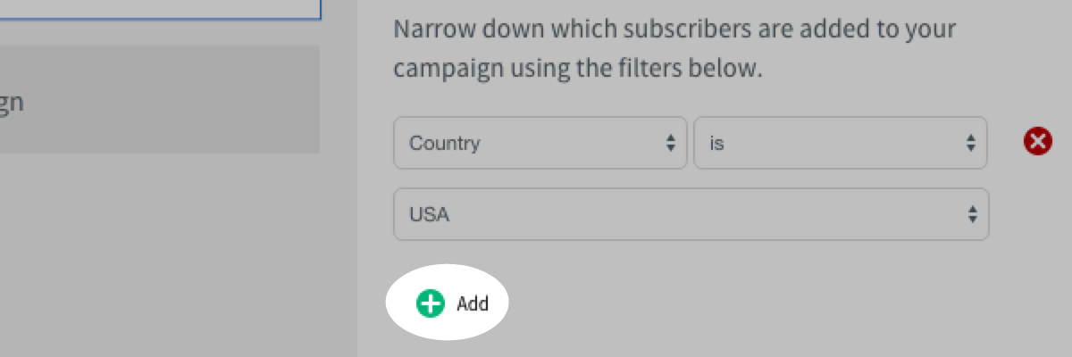 On subscribe filter actions