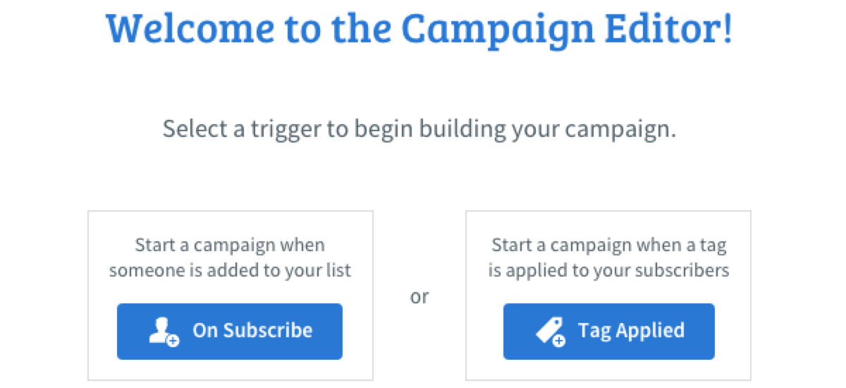 Select a campaign trigger