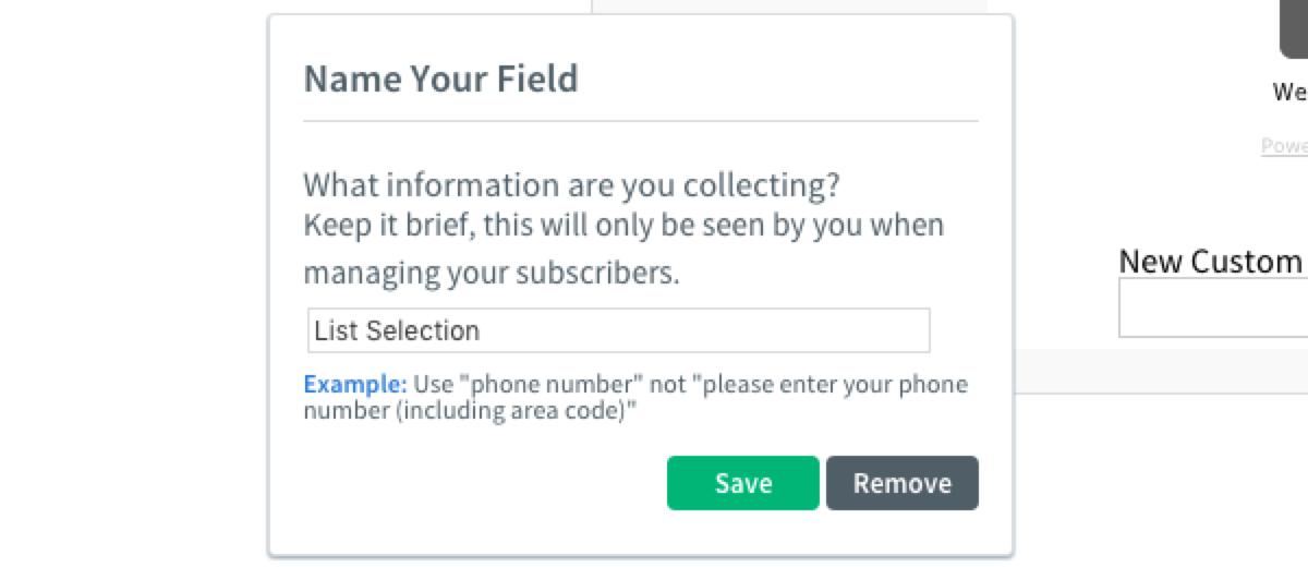 How can I add a list selection field to my sign up form? – AWeber ...