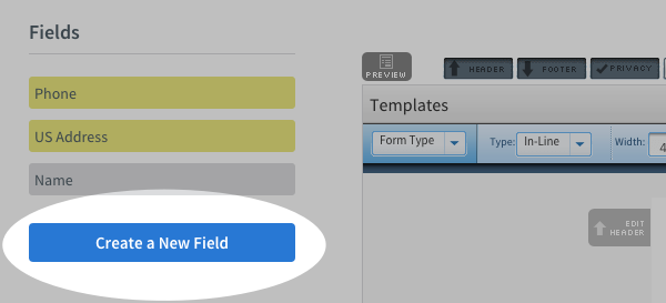 Click Create New Field