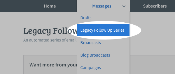 Legacy Follow Up Series in the
