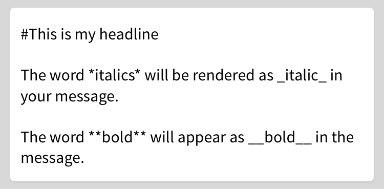 Bold and italicizing in Markdown