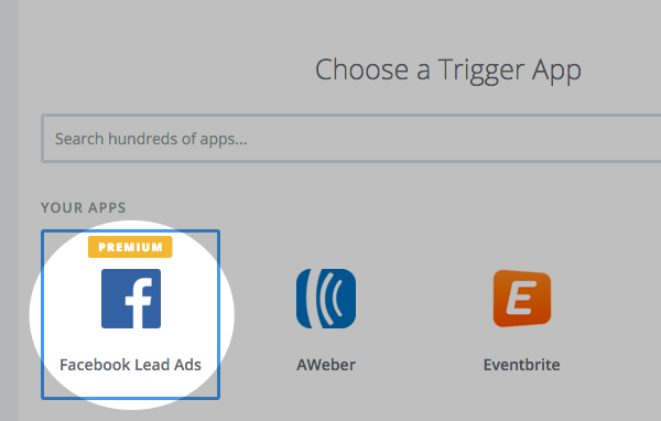 Select Facebook lead Ads