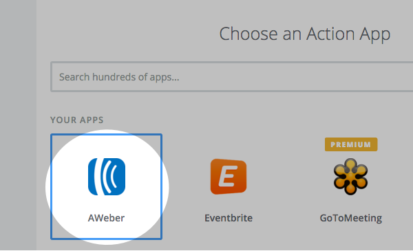 Choose an action App