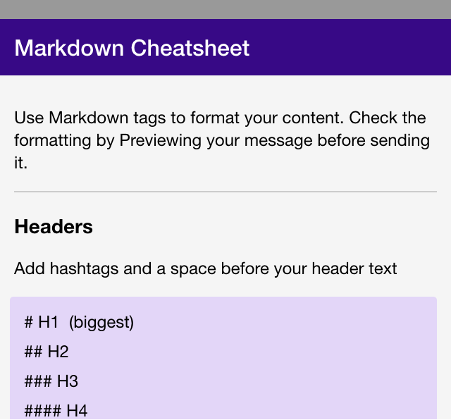 how do i use markdown in my curate newsletter aweber knowledge base