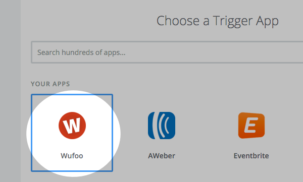Select Wufoo as the trigger app