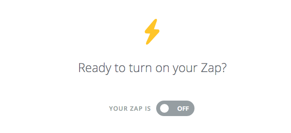 Toggle Zap on