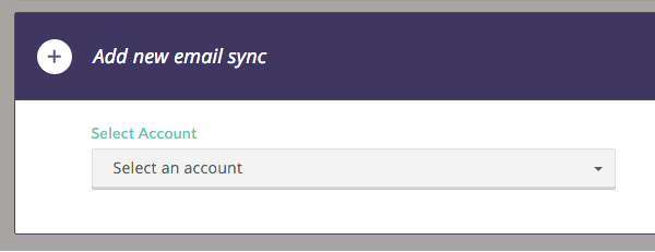 Click Add new email sync